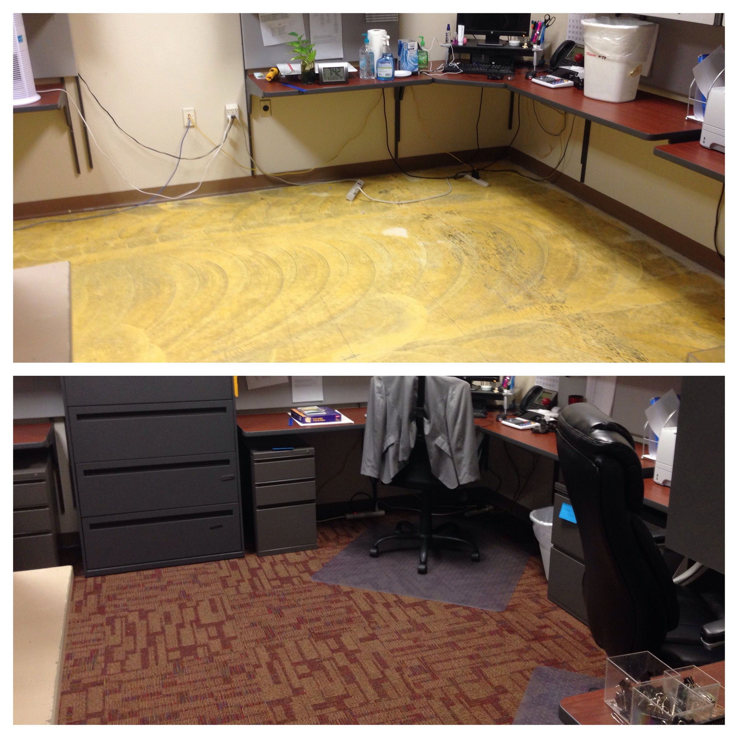 Modular Carpet Installation - private office shown