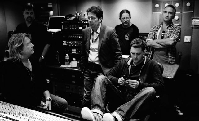 Michael Buble' in the studio photographed by Dean Freeman.