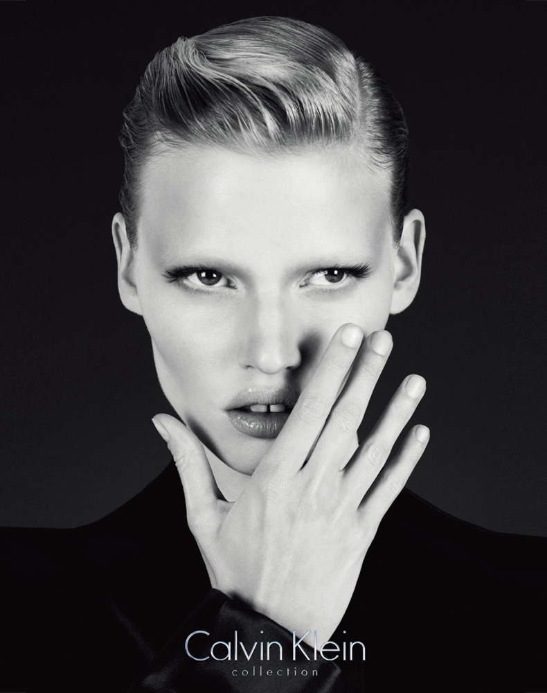 Lara Stone for Calvin Klein, shot by Mert Alas and Marcus Piggot.