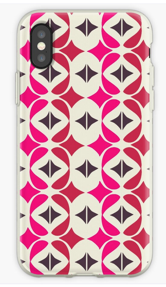 Copy of BAYA Red Pink iPhone case