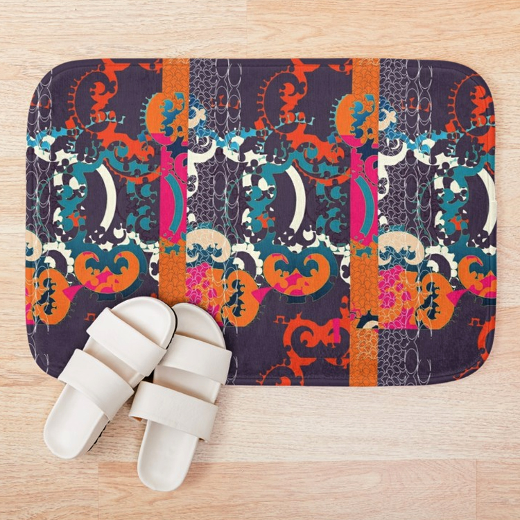 Holiday Bath Mat with slippers.jpg