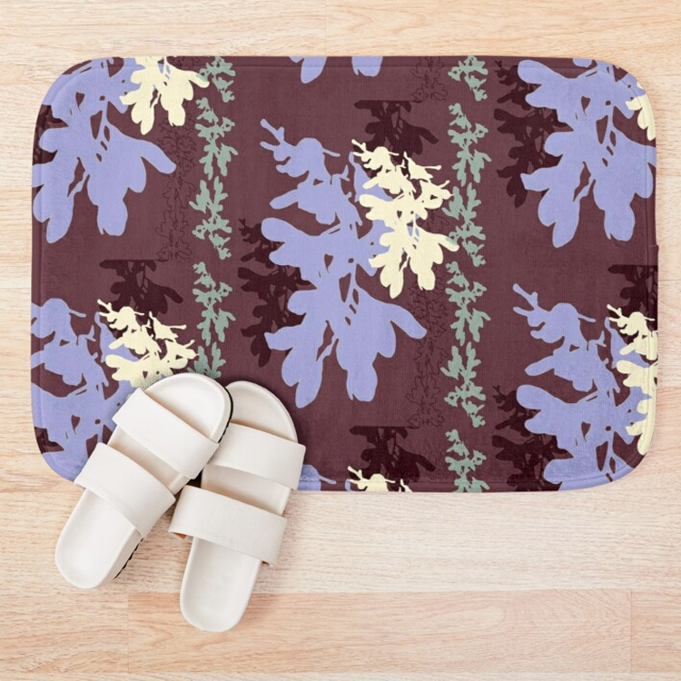 Orchids Cocoa Lavender Bath Mat with slippers.jpg