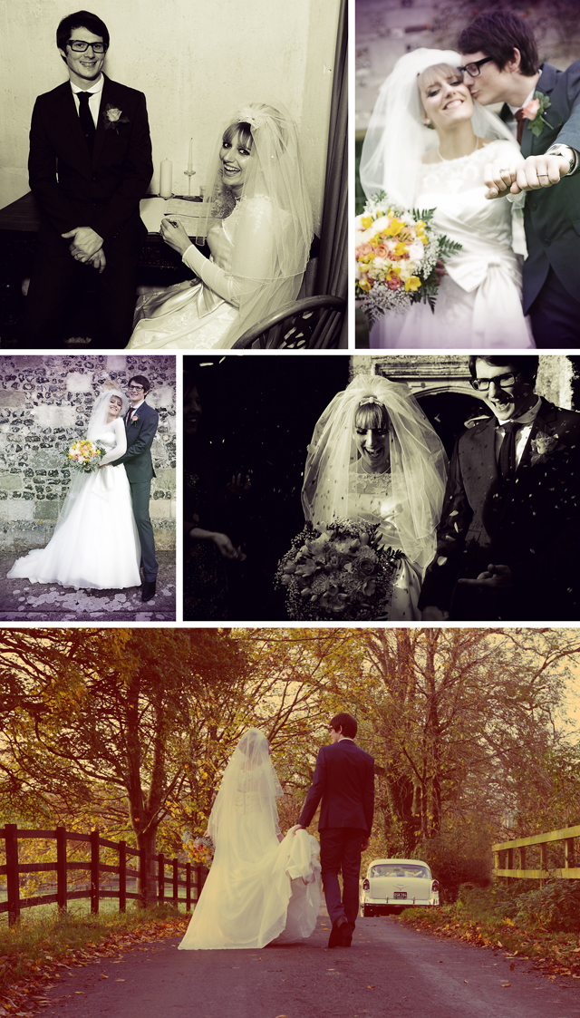 retro wedding photography