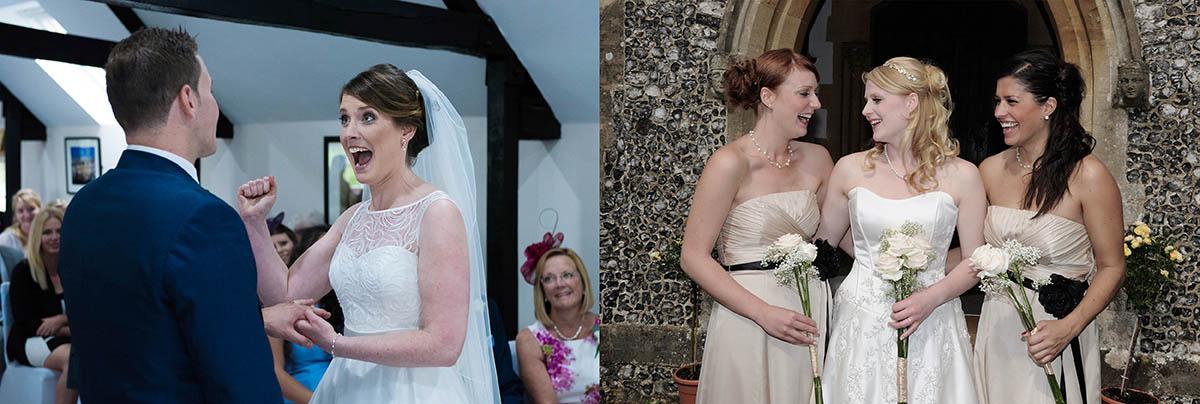 Happy Bride at Newbury wedding