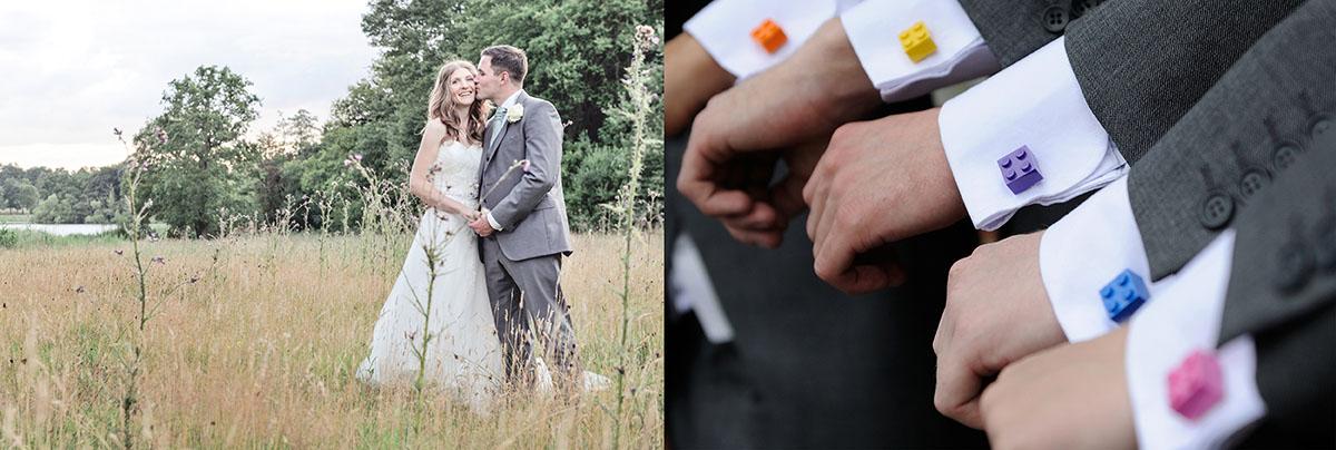 Newbury wedding in a field