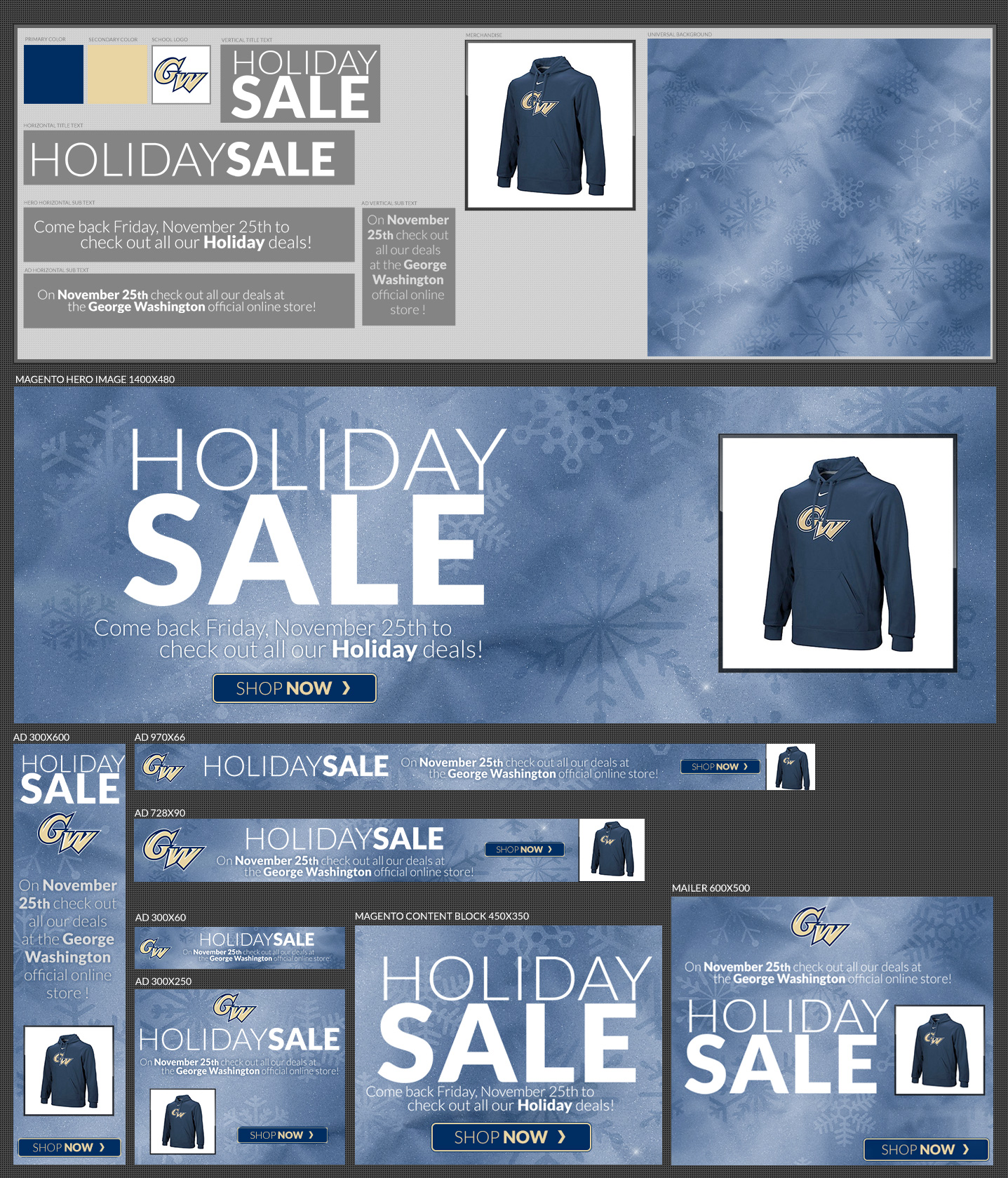 Universal Digital Ad Template created for e-comm dept.