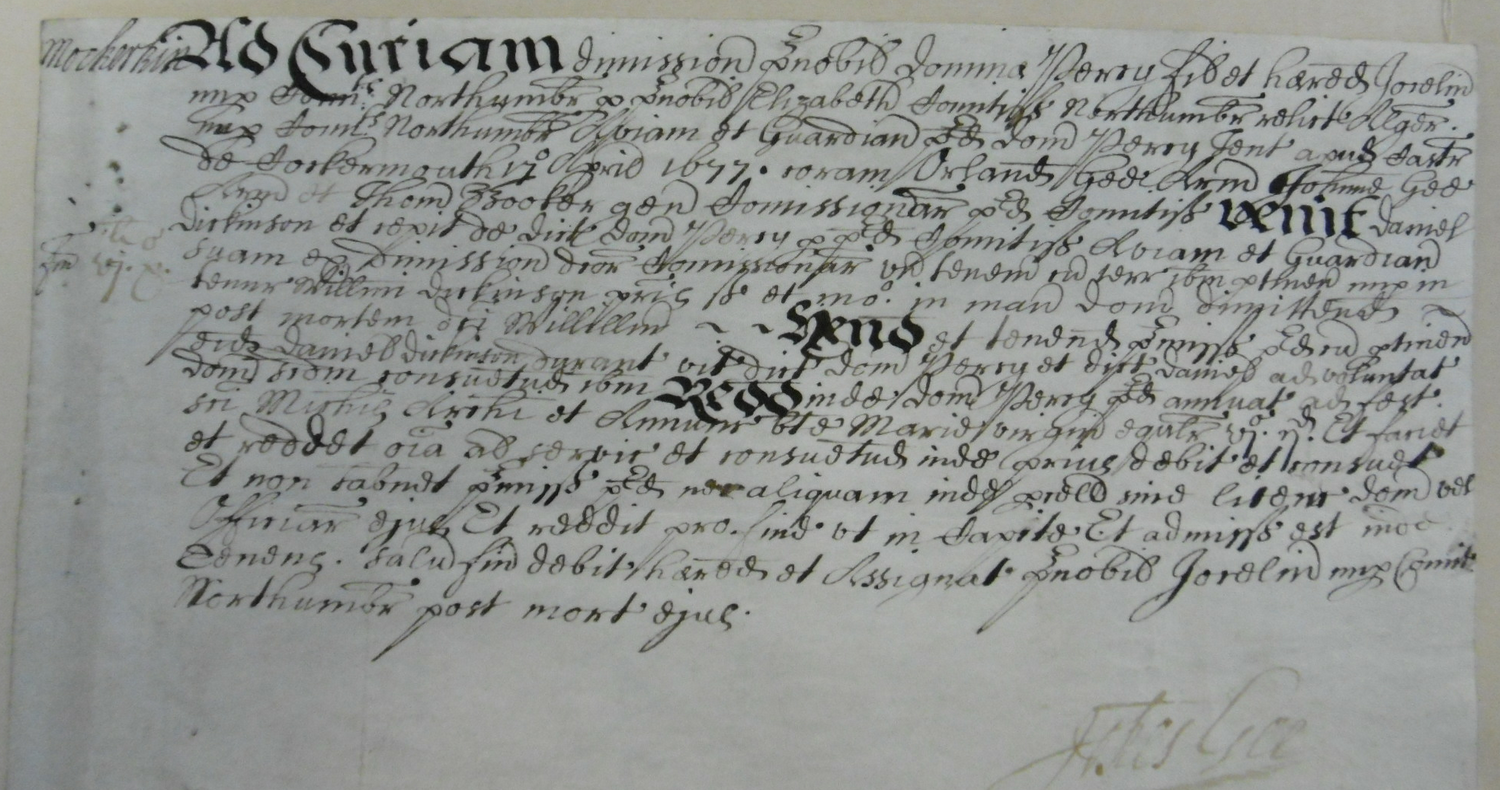 The original document held in Whitehaven RO. Picture by Nev. Ramsden.