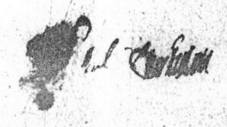 His signature on his own will in December 1699.