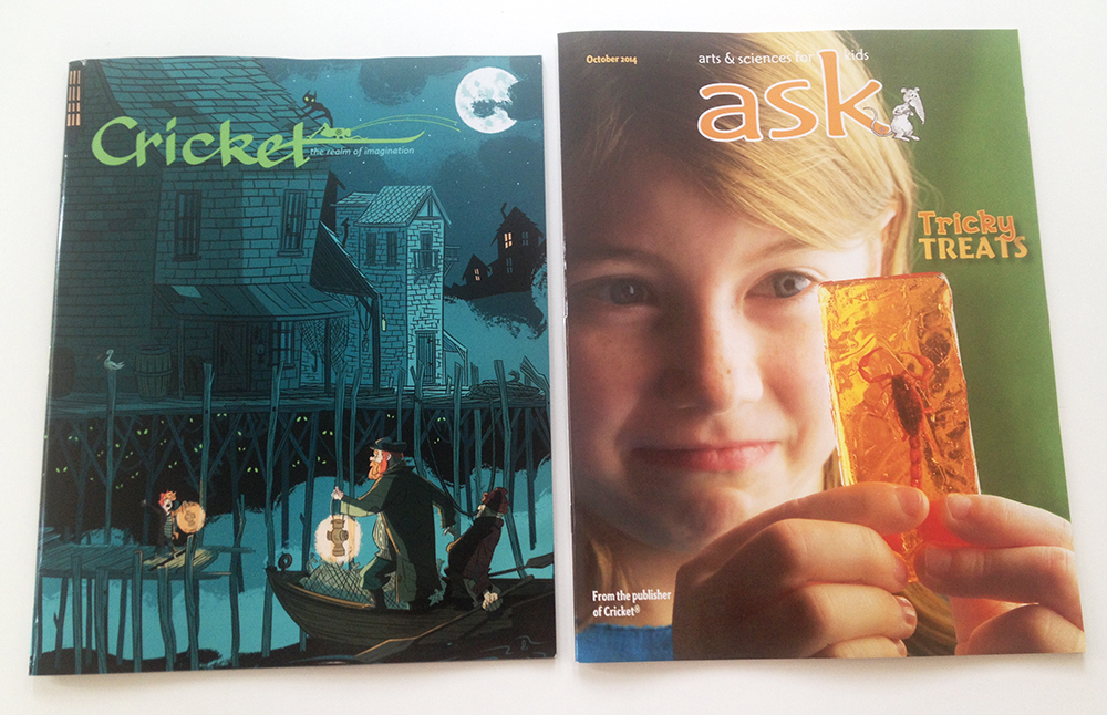 October 2014 issues of Cricket and Ask magazines