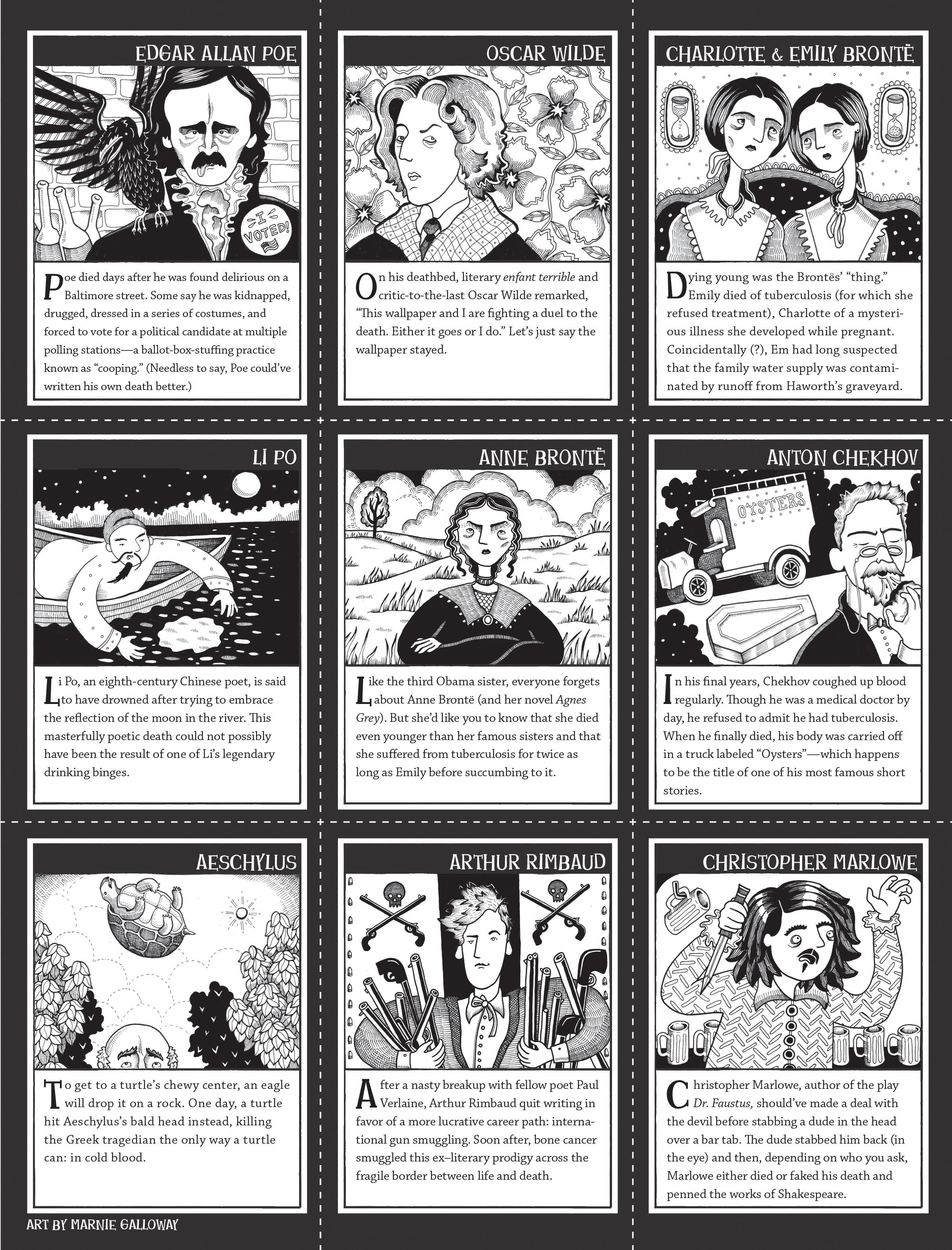 """Literary Undertakings: Dead Author Trading Cards,"" Cicada"