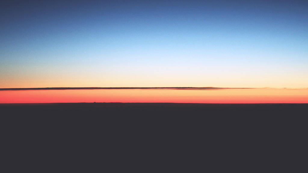 Sunrise above France