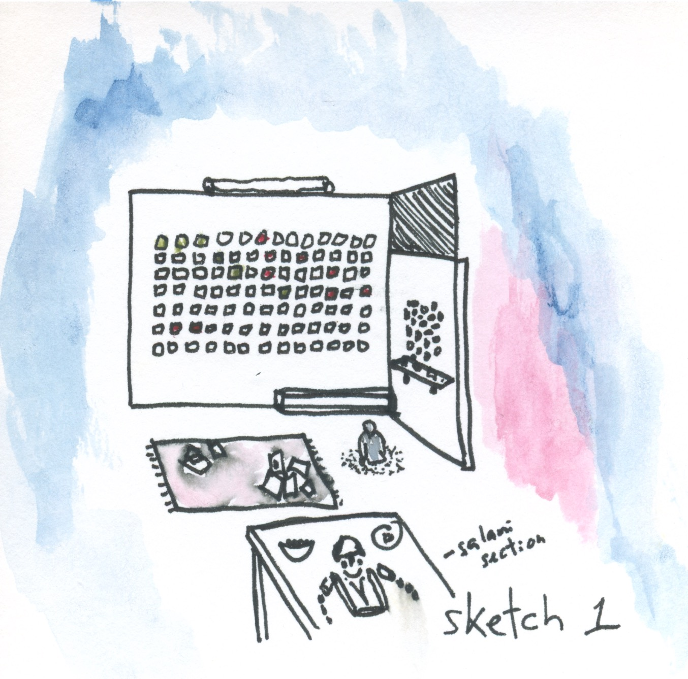Sketch 1 in pantone colors
