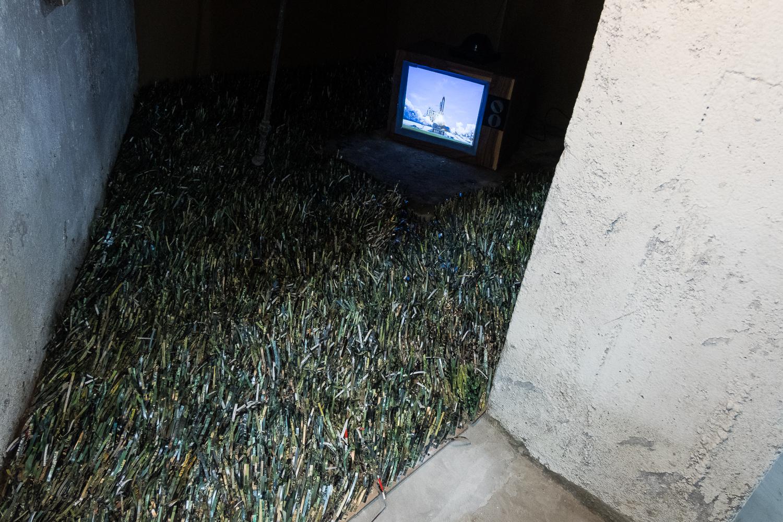Dream Hole   Paper, fan, video projection  2017