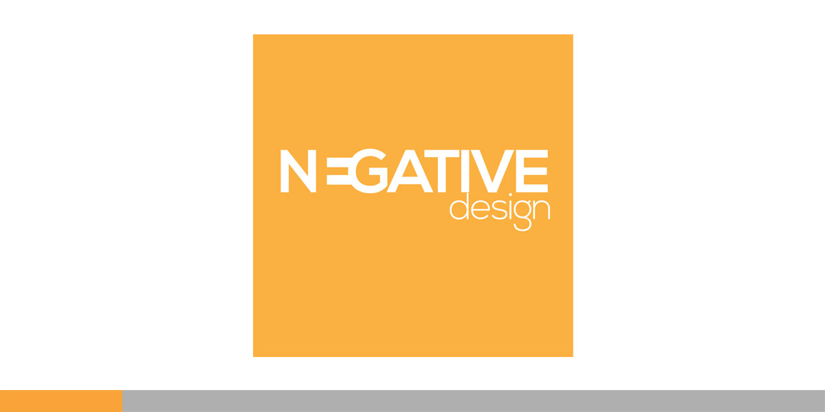 Negative Design, a small, up and coming design shop in San Francisco had a decent logo, but I designed this one for my friend, (one of the owners) they loved it...
