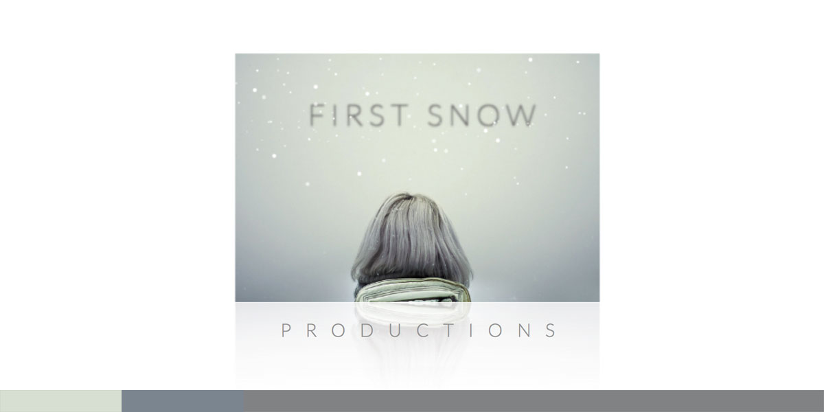 Actress & Producer Neve Campbell needed a logo for her production company. The First Snow idea evoked a beautiful, wistful image for the logo