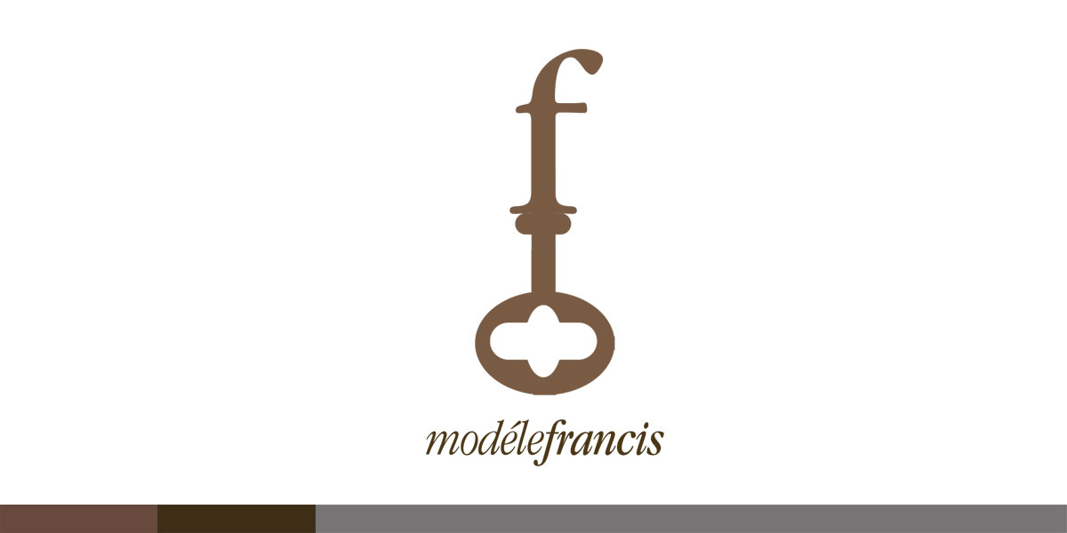 "ModeleFrancis a vintage clothing business, had two requirements, their logo had to feel classic, and have a skeleton key. I used the owners initial ""f"" and they had a lovely logo"
