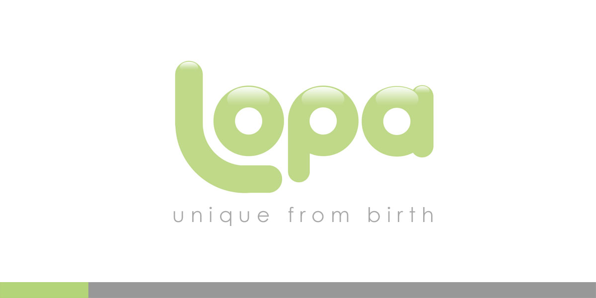 Lopa, a great idea that never got much further than a great idea. Fun, Catchy, Unique children's clothing. Not much funding, but at least a great identity.