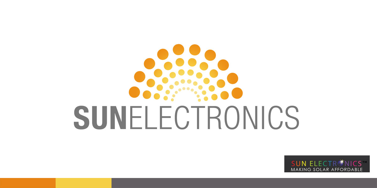 A good friend worked at Sun Electronics, and I couldn't deal with their logo. I created a new one, free of charge, in an attempt to rid the world of bad design. You're welcome.