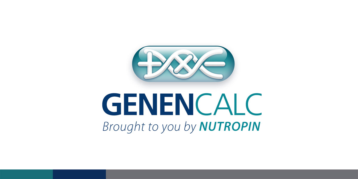 Genentech needed a logo for the Nutropin drug dosage calculator. I integrated the + and - into a double helix for the logo.