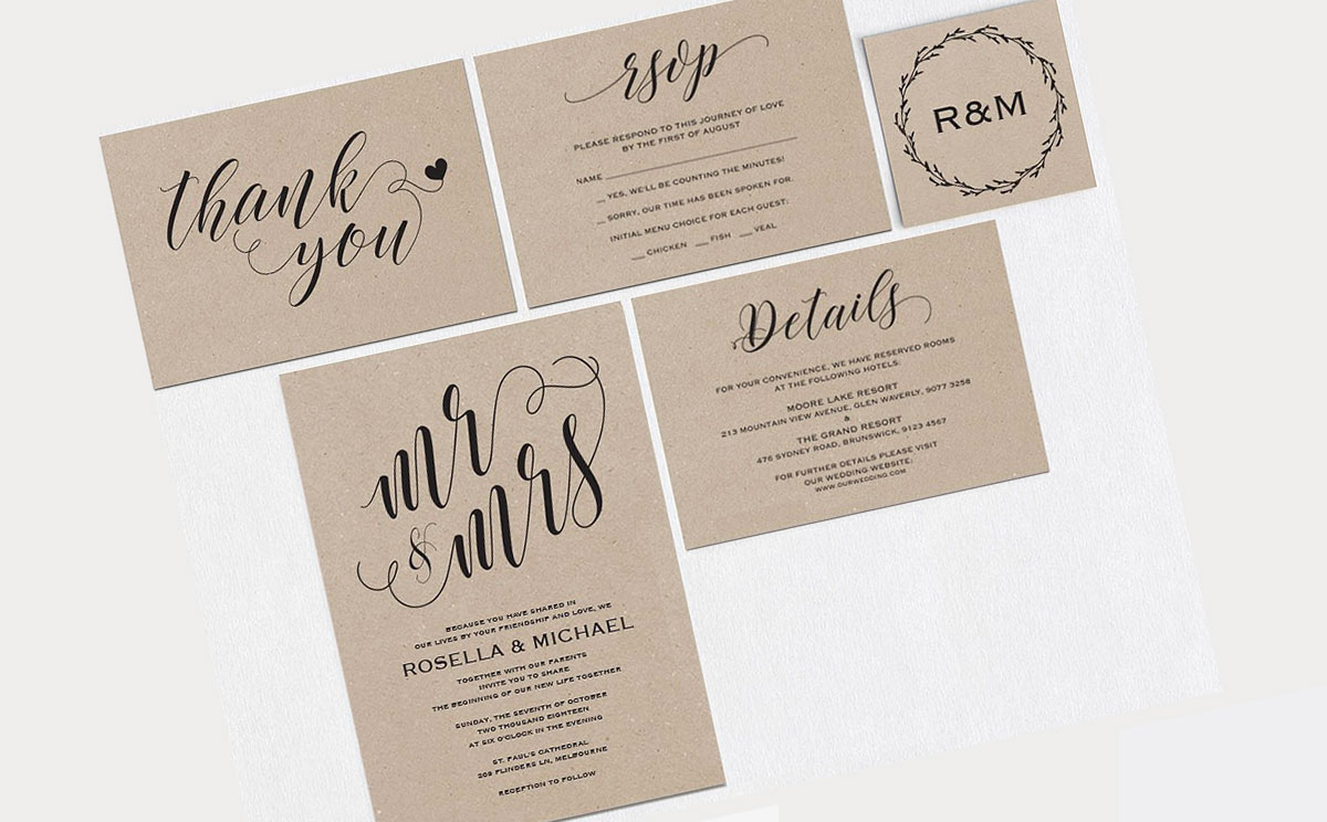 Invites for my Friends Rose & Michael