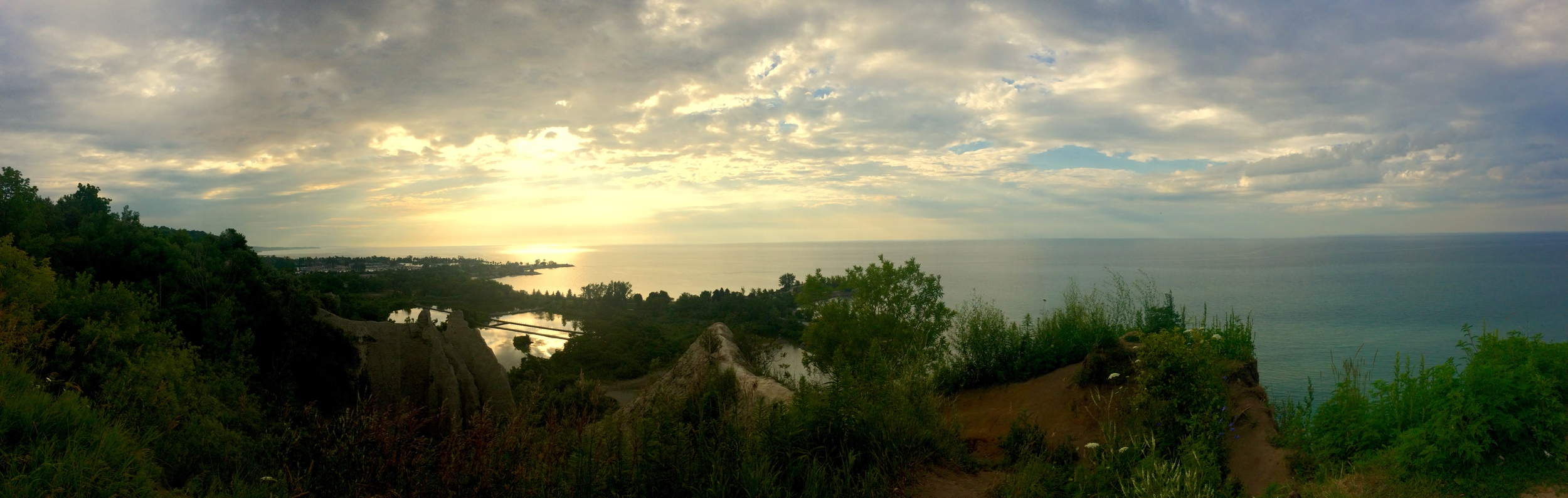 The Scarborough Bluffs from above