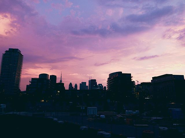 Dusk. A few weeks ago during one of those sweltering Toronto summer days. #Toronto