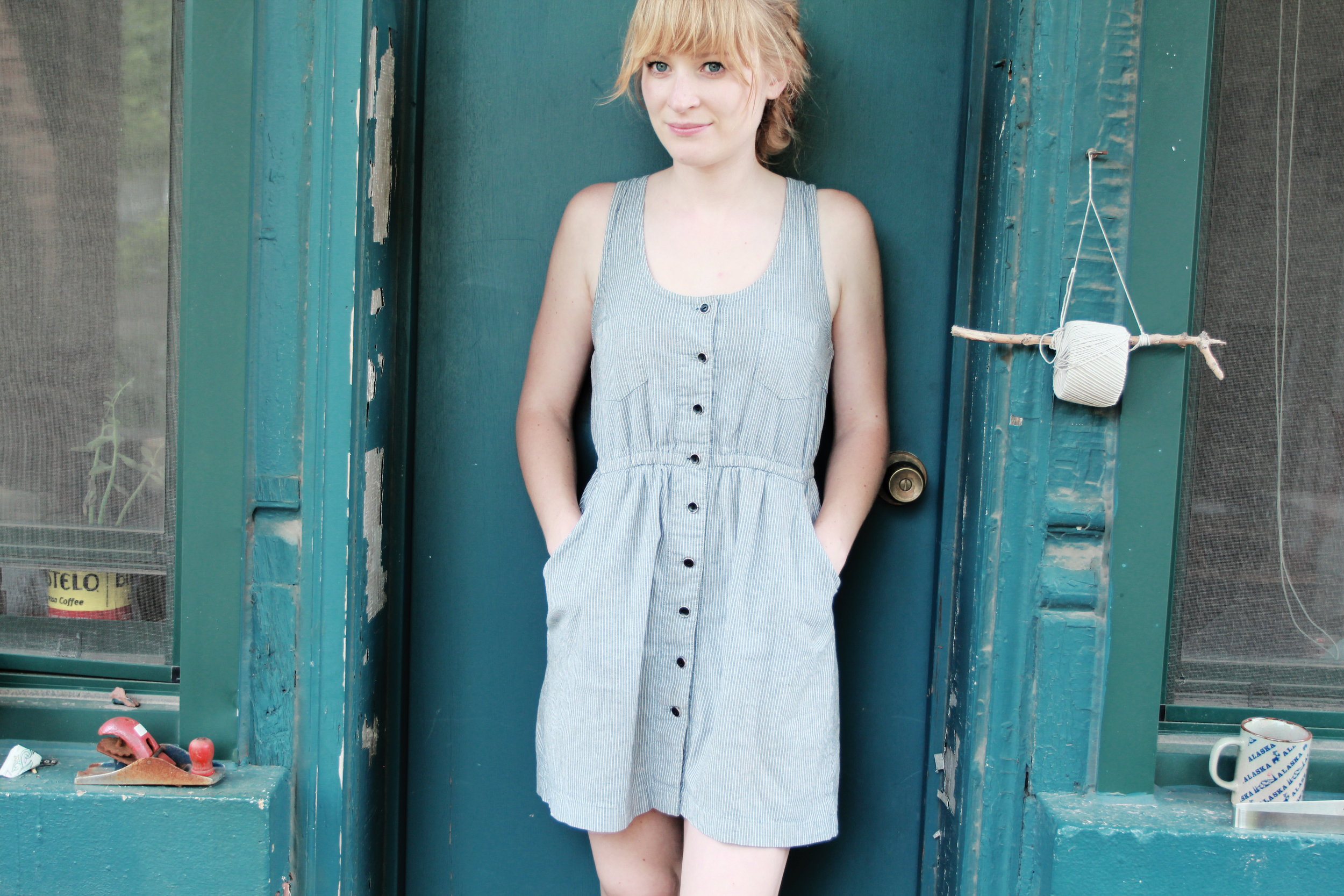 A more casual sundress (Salvation Army) that I can wear with both my converses and the platform sandals.