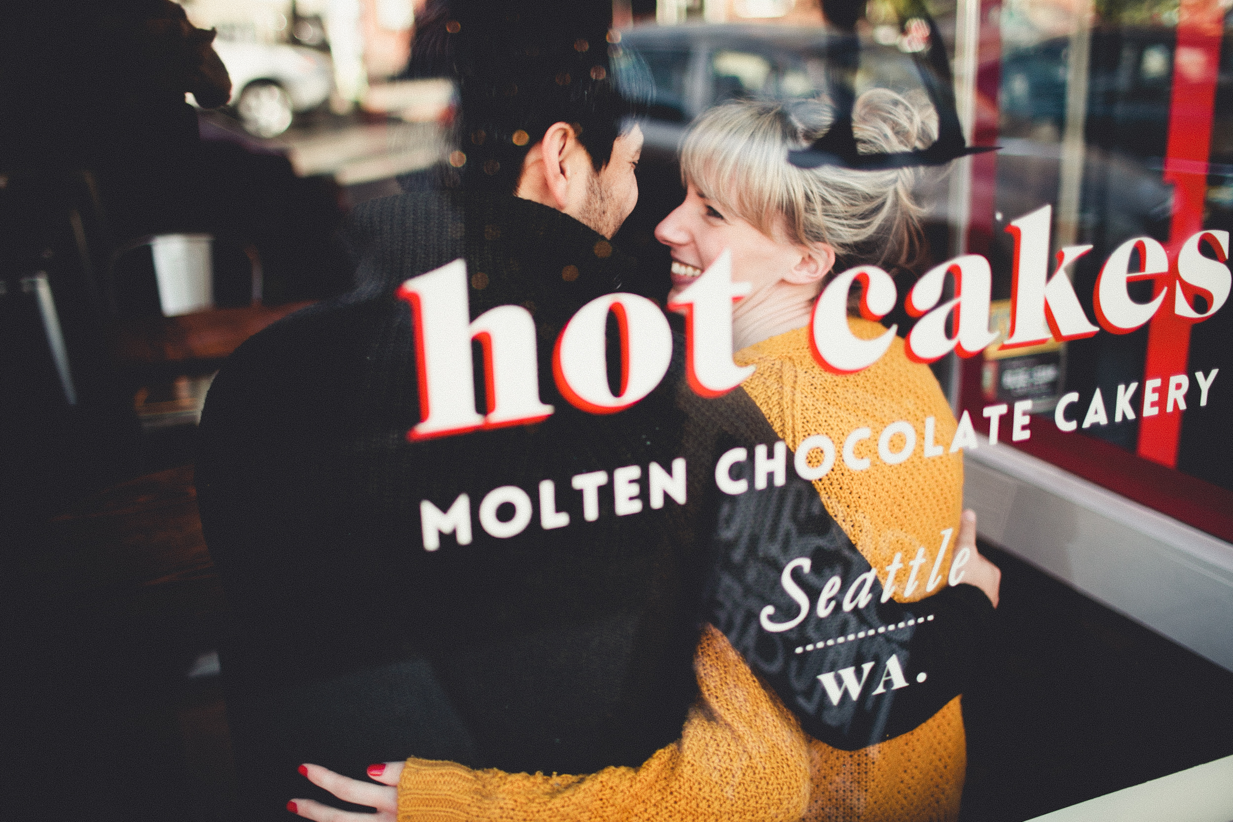 Another favorite from  Andria Lindquist - We love HOT CAKES so much we took engagement photos there! Yep!