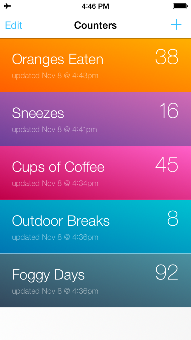 Counters App - 2 - List View.png