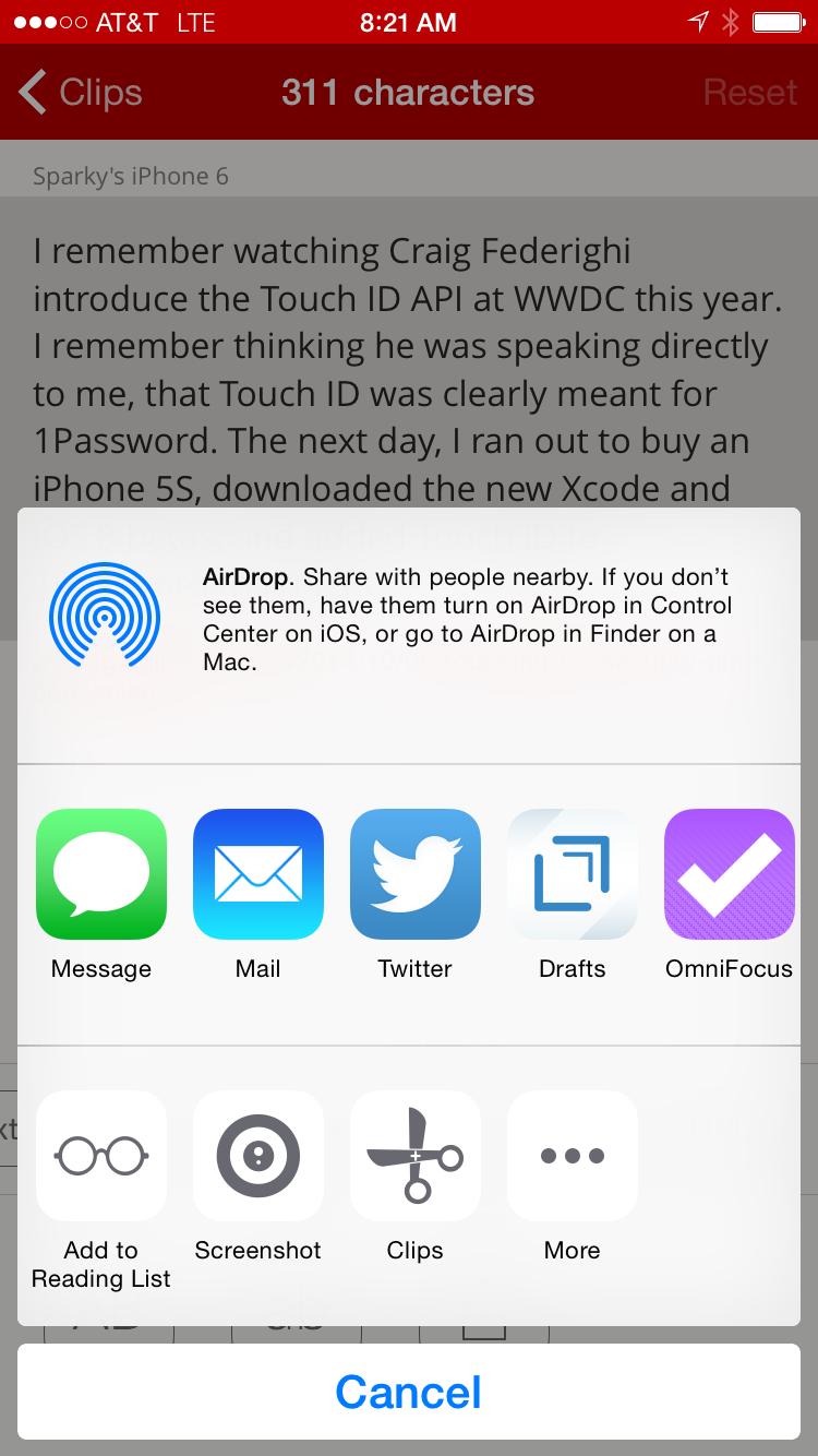 Clips for iOS — MacSparky