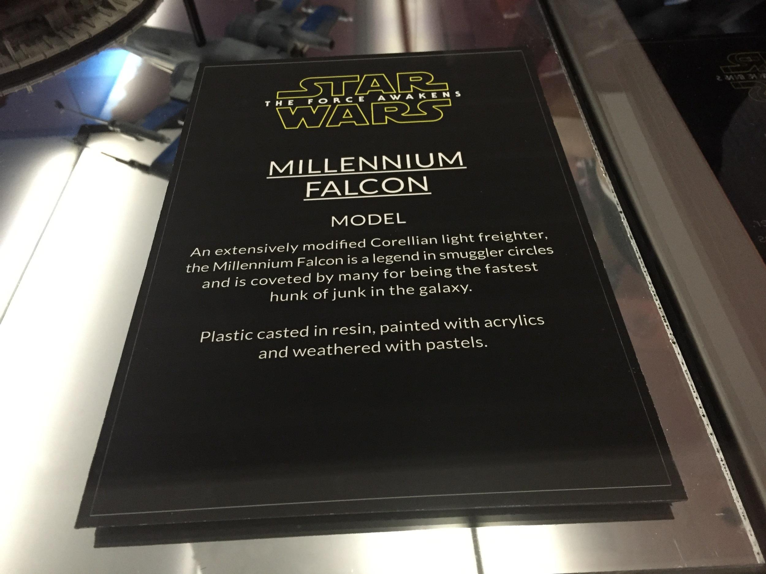 Millenium Falcon Description