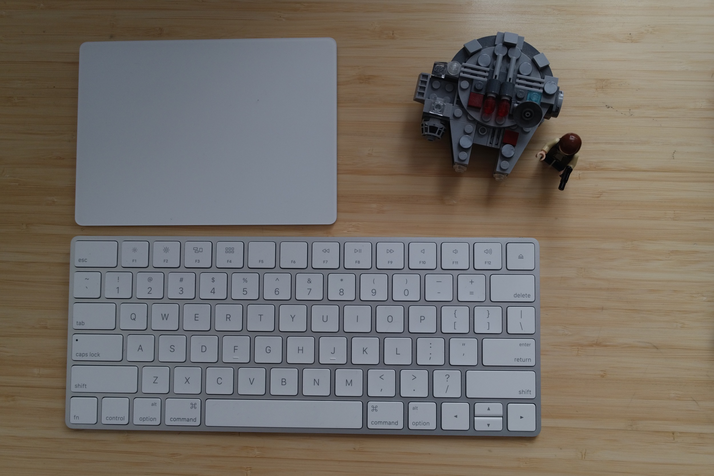 That's right. The Magic Trackpad 2 is bigger than the Millennium Falcon.