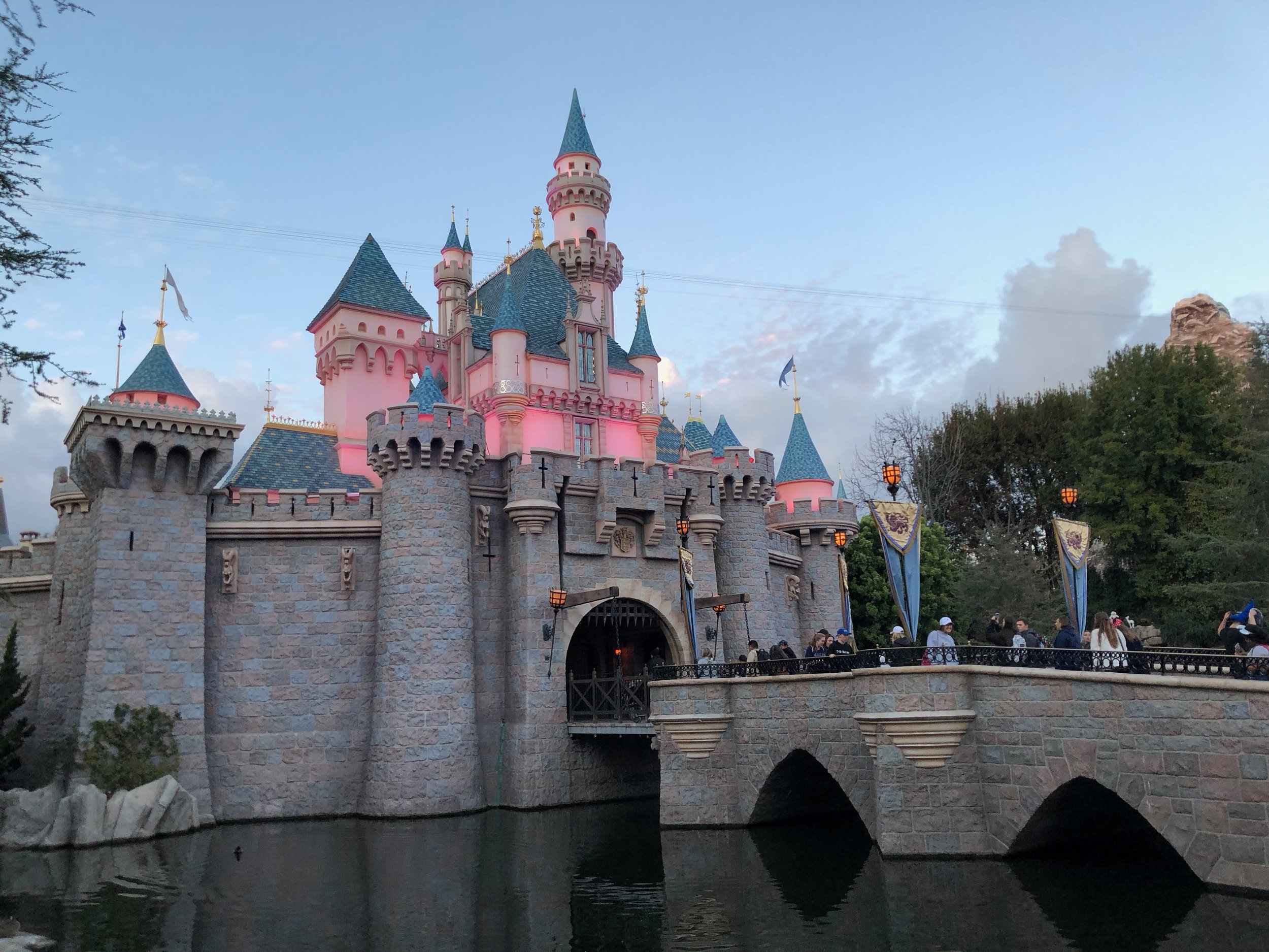 The Disneyland Castle with the native iPhone lens. (Click to enlarge.)