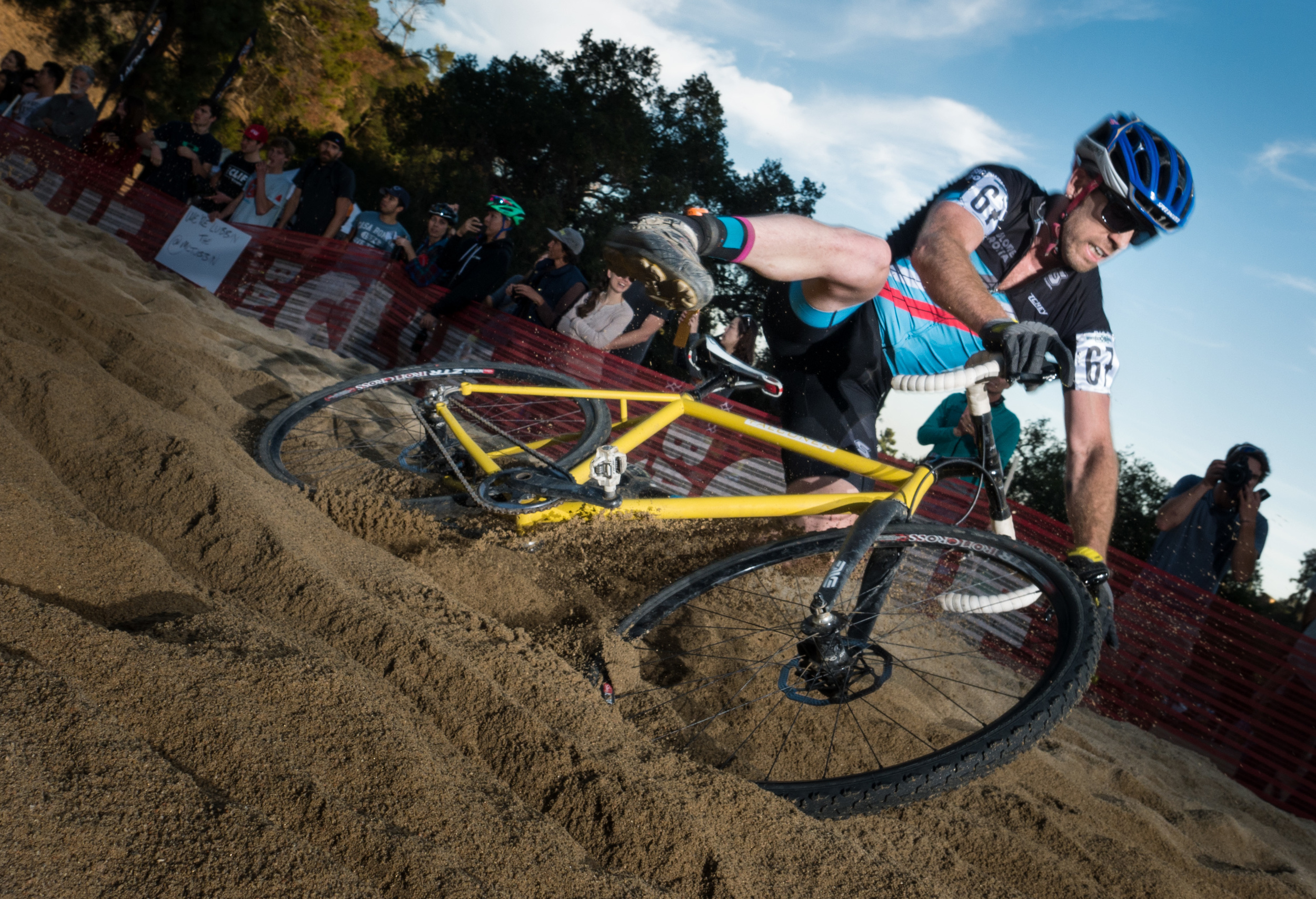 Falling off the bike in the sand pit-  Lumix DMC-GX7, Olympus 12mm F2 lens, Lumopro Strobes