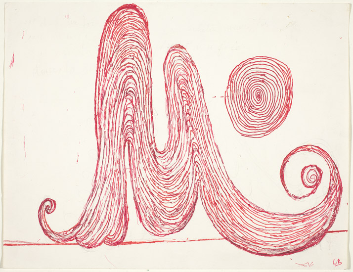 Louise Bourgeois,  M is for Mother , 1998, pen and ink with colored pencil and graphite, National Gallery of Art, Washington