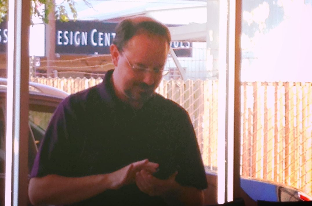 John Scalzi proved to be as elusive as a yeti when it came to getting a decent photo.