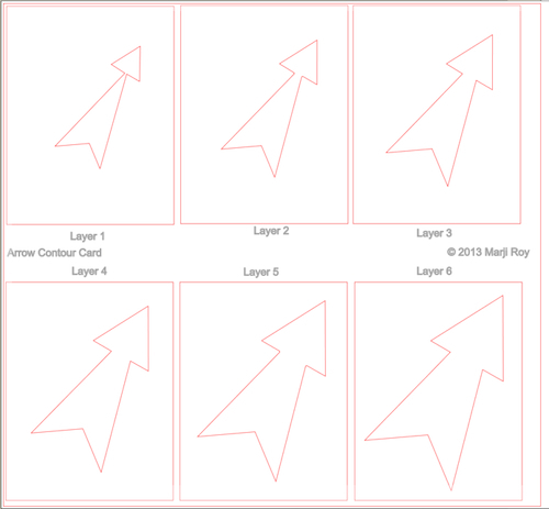 This is what the nested arrow card cutting file looks like.