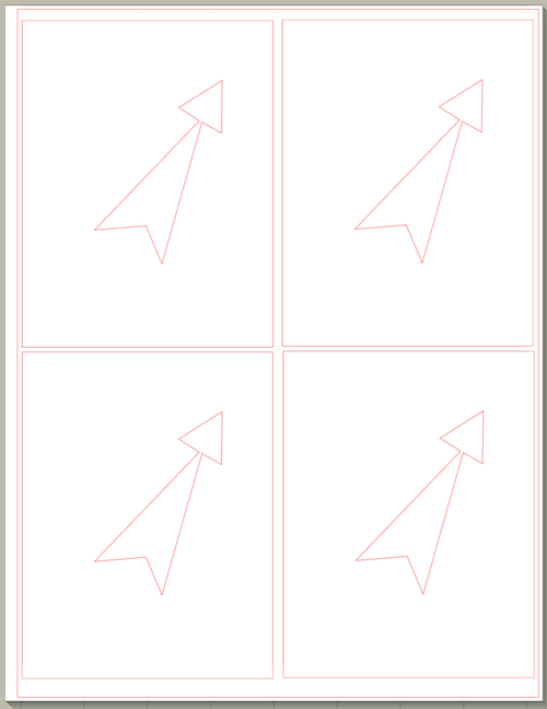 Copy each layer and paste it into a new file. You can cut 4 from each 8.5 x 11 sheet.
