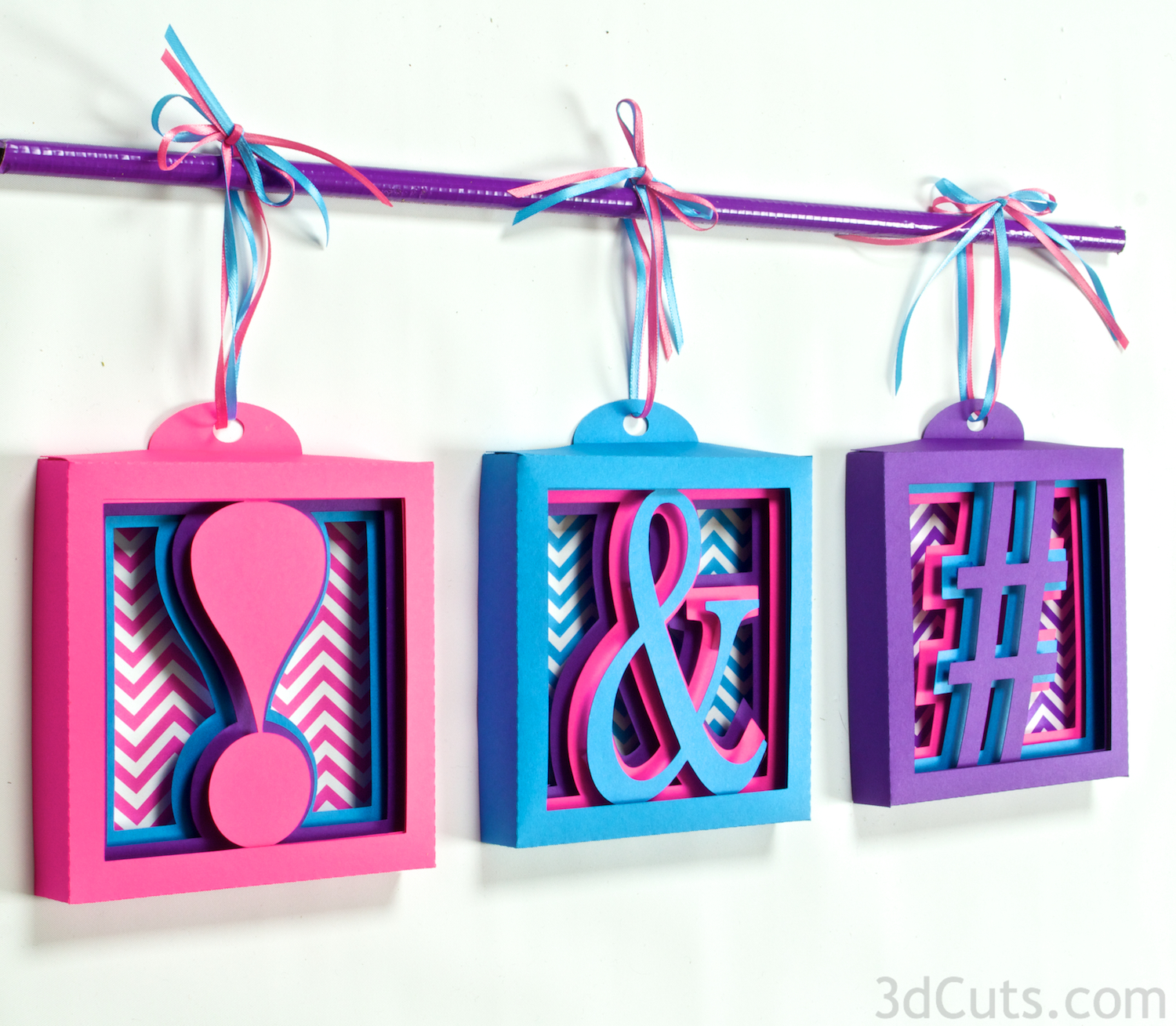 Alphabet Shadow Boxes by 3DCuts.com, Marji Roy, 3D cutting files in .svg, .dxf, and .pdf formats for use with Silhouette and Cricut cutting machines, paper crafting files