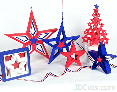 3d Paper Star Cutting Group 3dcuts