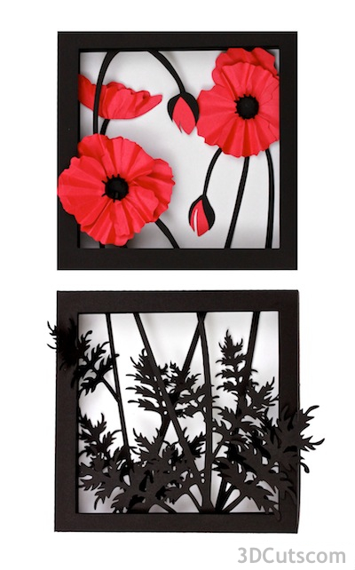 Poppies by 3DCuts.com
