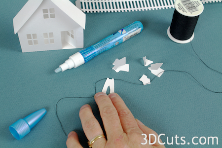 3DCuts.com, Marji Roy, 3D cutting files in .svg, .dxf, and pdf. formats for use with Silhouette and Cricut cutting machines, paper crafting files, Ledge Village