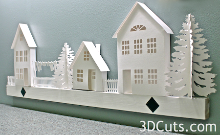 Ledge Village • Greek Revival House — 3DCuts com