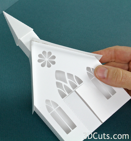 3DCuts.com, Marji Roy, 3D cutting files in .svg, .dxf, and pdf. formats for use with Silhouette and Cricut cutting machines, paper crafting files, Ledge Village Chapel