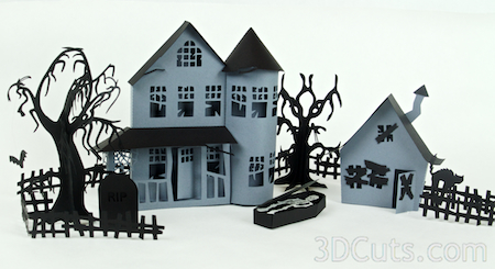 Combined with Haunted Mansion cutting file.