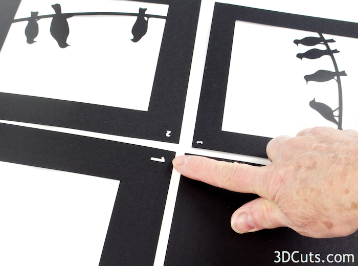 3d Shadow Box tutorial by 3dCuts.com, Marji Roy, 3D cutting files in .svg, .dxf, and .pdf formats for use with Silhouette and Cricut cutting machines, paper crafting files