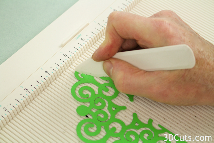 Use a scoring board to score along dotted lines if shapes cut smaller.