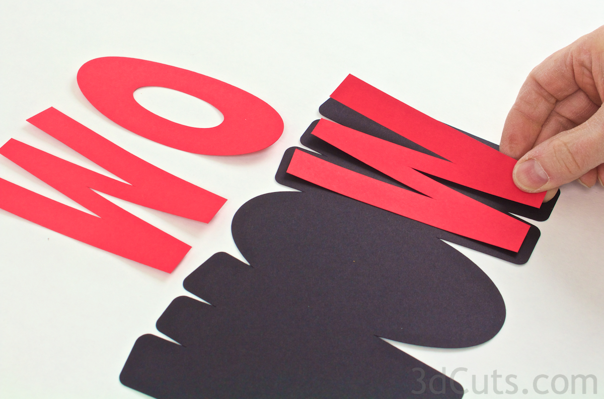 svg greeting card cutting files for Silhouette and Cricut Cutting machines. Birthday card by Marji Roy of 3dcuts.com