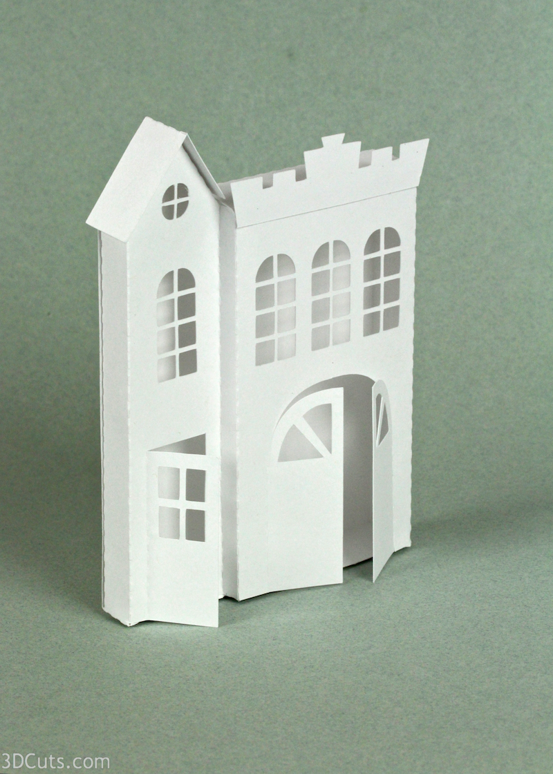 Ledge Village by 3DCuts.com, Marji Roy, 3D cutting files in .svg, .dxf, and pdf. formats for use with Silhouette and Cricut cutting machines, paper crafting files, Ledge Firehouse
