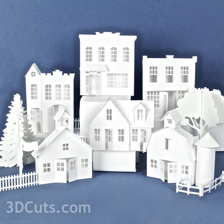 Ledge Village by Marji Roy of 3DCuts.com